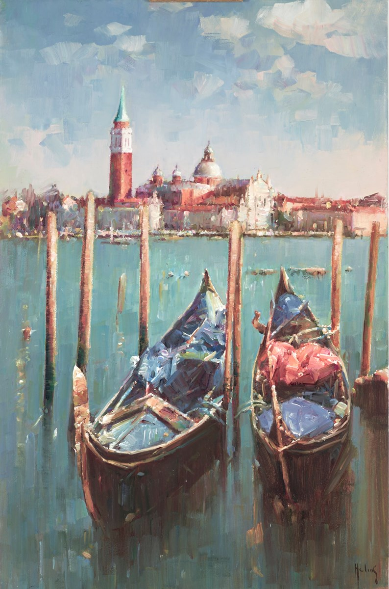 Gondolas by helios -  sized 20x30 inches. Available from Whitewall Galleries